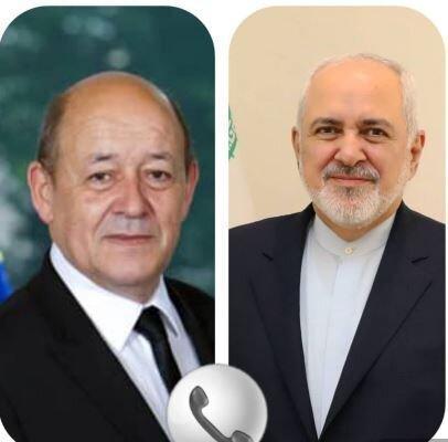 رایزنی وزیران امور خارجه ایران و فرانسه در خصوص برجام و آخرین تحولات لبنان