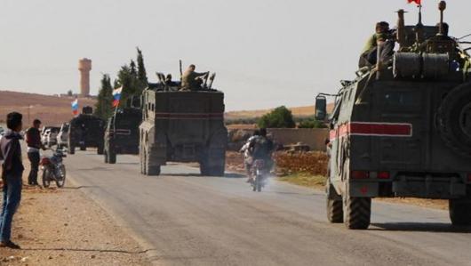 انفجار مین در راستا گشتی روسیه در سوریه