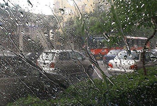 وقوع رگبار و بارندگی در بعضی منطقه ها